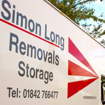 Simon Long removals and storage van